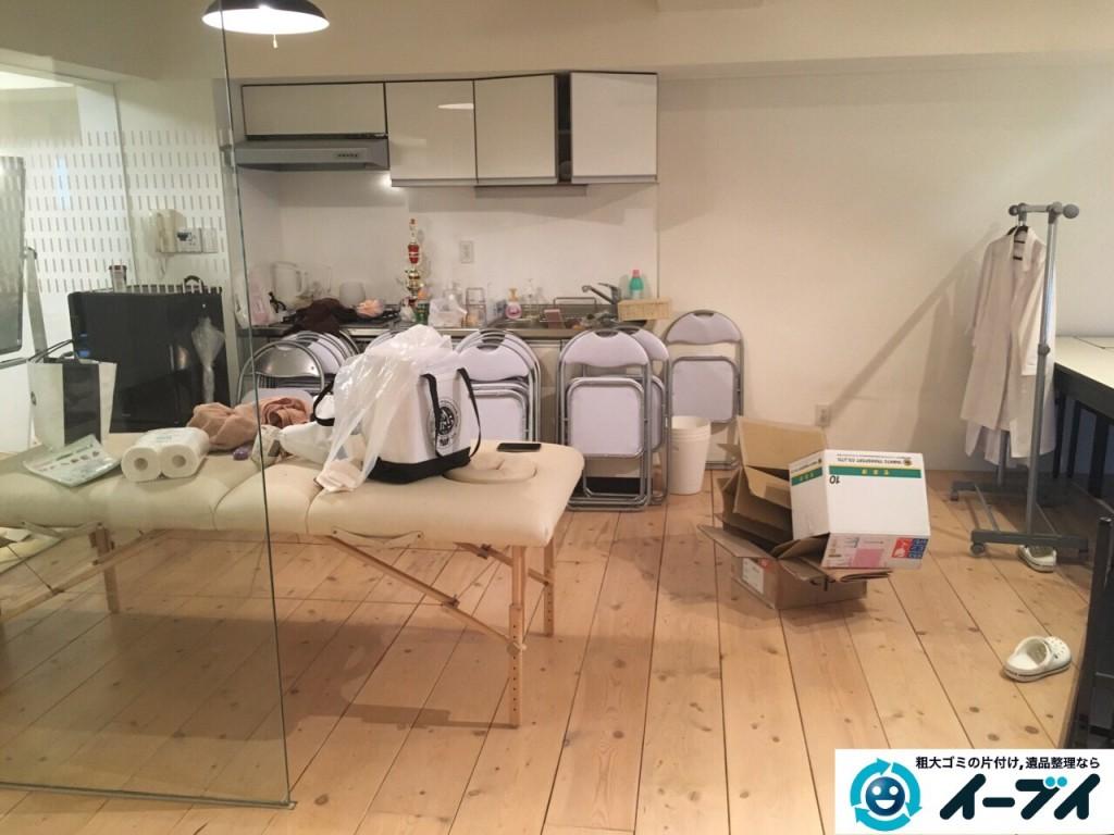 10月10日 大阪府大阪市北区でエステサロンの店舗什器や粗大ゴミの不用品回収をしました。写真5