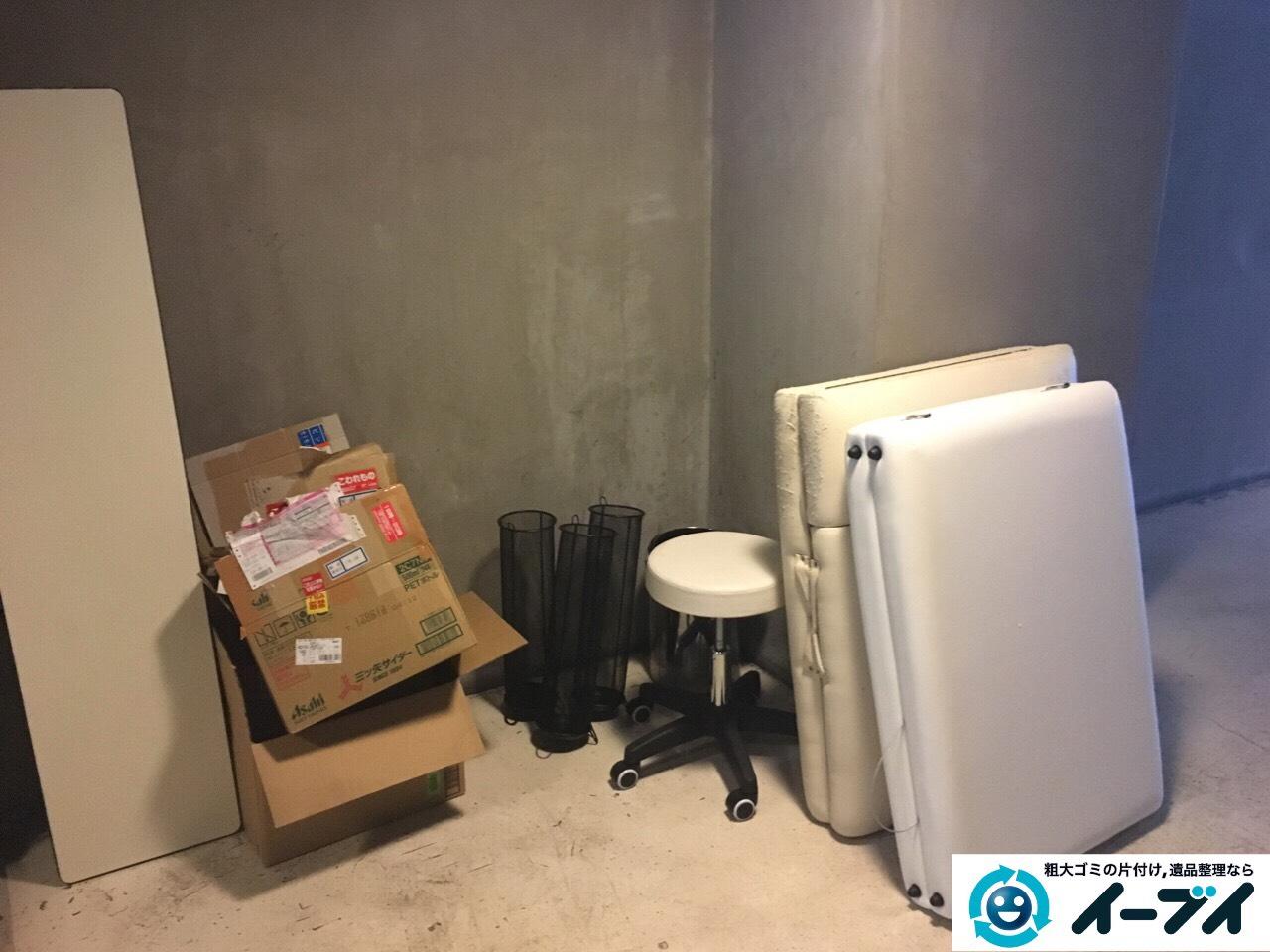 10月11日 大阪府大阪市北区でエステベットやホワイトボードや段ボールゴミの粗大ゴミの不用品回収をしました。写真3