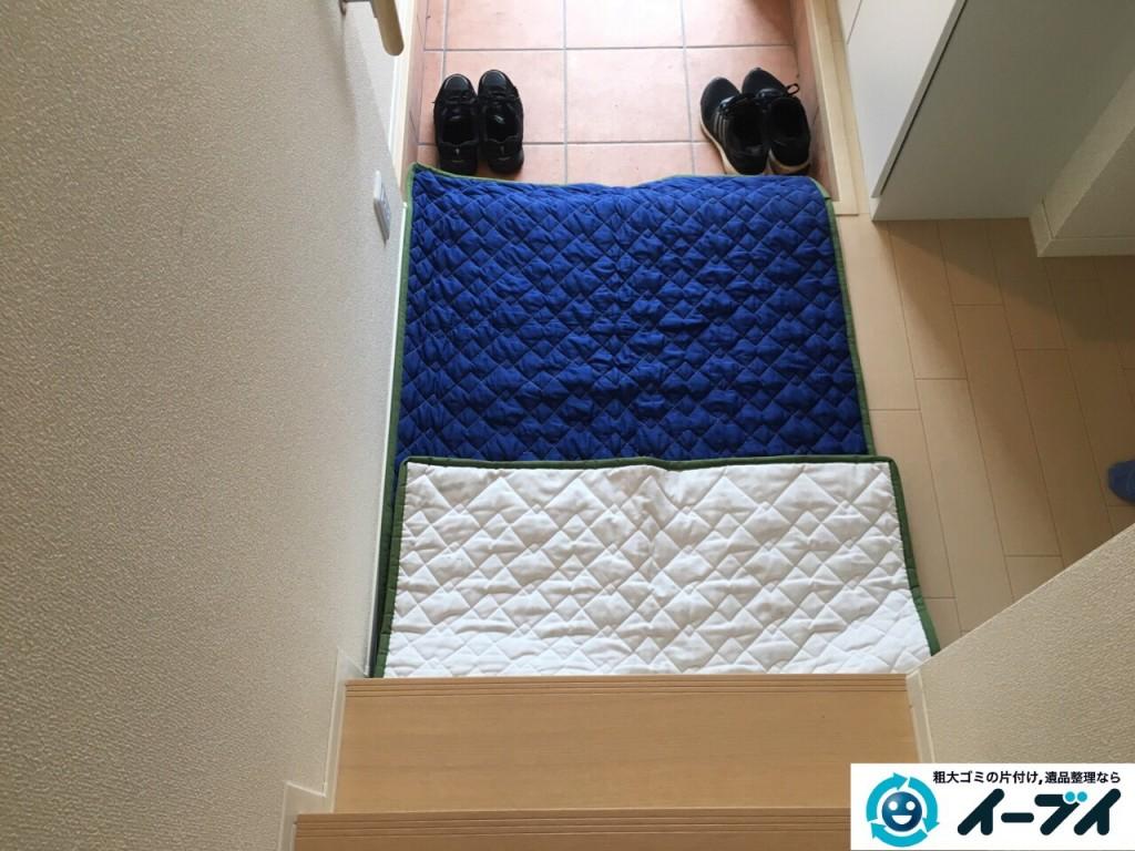 10月13日 大阪府堺市美原区で折り畳みすのこベッドの家具の粗大ゴミを不用品回収しました。写真4
