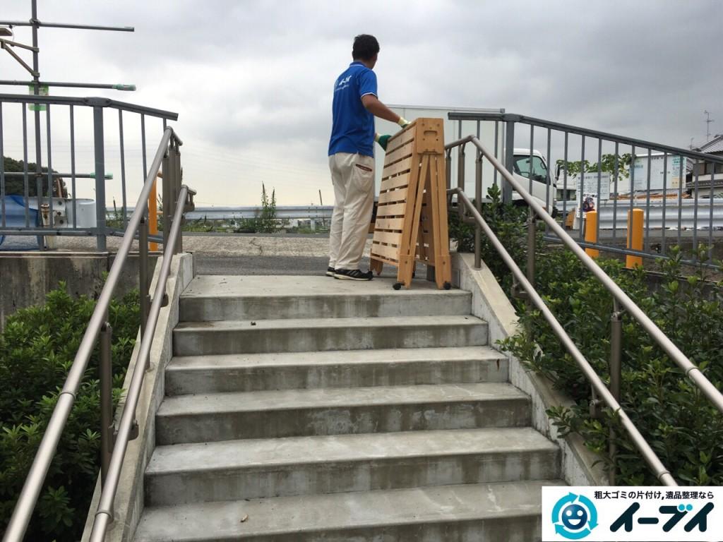 10月13日 大阪府堺市美原区で折り畳みすのこベッドの家具の粗大ゴミを不用品回収しました。写真1