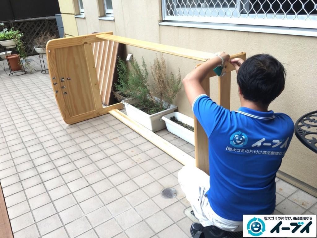 10月9日 大阪府大阪市平野区で介護施設のベットの粗大ゴミや廃品の不用品回収をしました。写真3