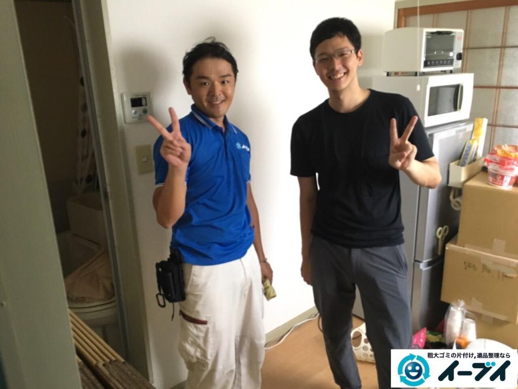10月11日 大阪府大阪市東住吉区で引越しに伴う家具や粗大ゴミの不用品回収をしました。写真1