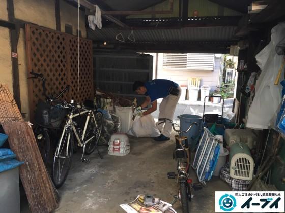 10月13日 大阪府堺市南区でガレージや納屋の廃品や粗大ゴミの不用品回収をしました。写真5