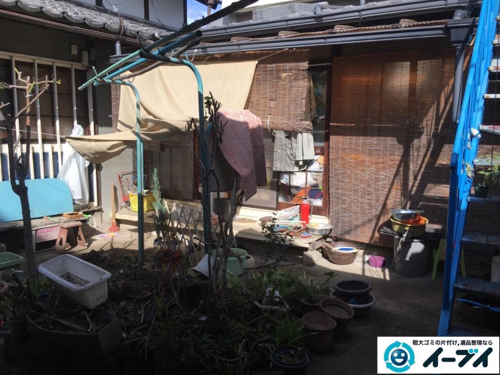 10月13日 大阪府堺市南区でガレージや納屋の廃品や粗大ゴミの不用品回収をしました。写真3