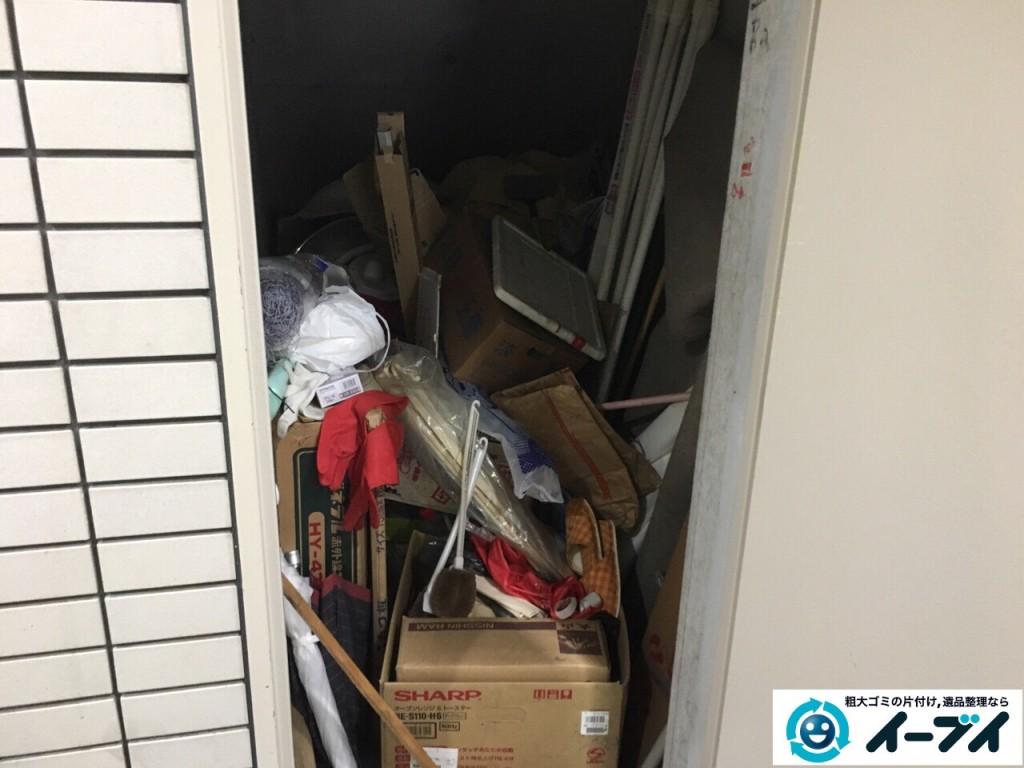 10月7日 大阪府大阪市生野区でマンションの物置きの廃品や粗大ゴミの不用品回収をしました。写真3