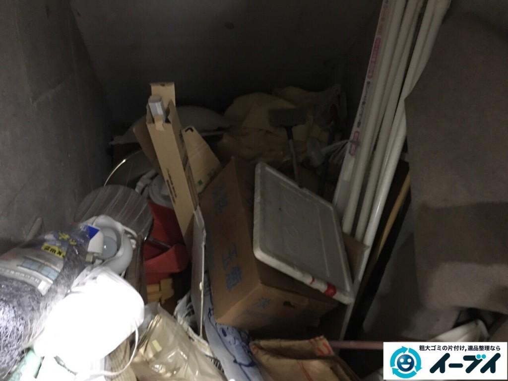 10月7日 大阪府大阪市生野区でマンションの物置きの廃品や粗大ゴミの不用品回収をしました。写真2
