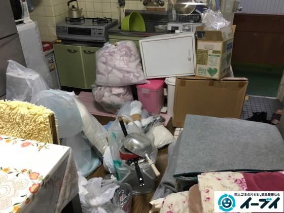 10月17日 大阪府和泉市でソファーや布団などの粗大ゴミや廃品の不用品回収をしました。写真1
