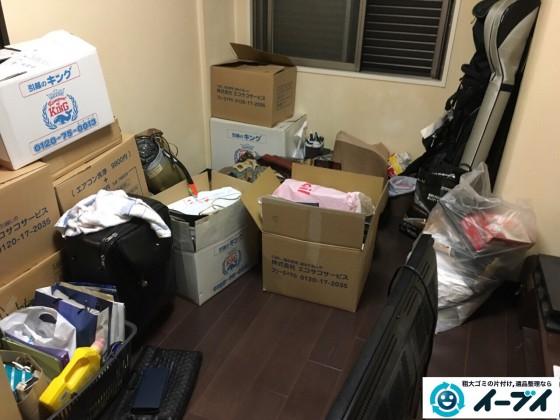 10月9日 大阪府大阪市福島区で引越しに伴う不用品の買取りと粗大ゴミの処分をしました。写真1