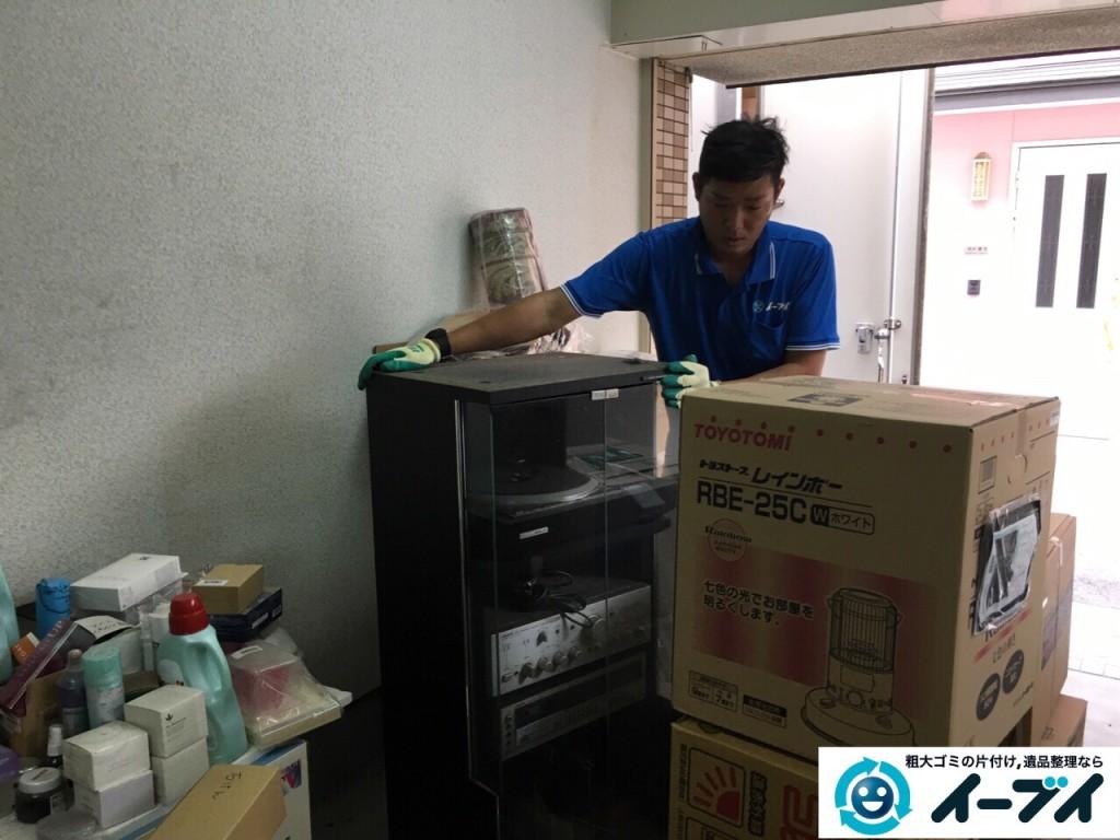 10月12日 大阪府大阪市此花区でガレージの廃品や粗大ゴミの不用品回収をしました。写真3