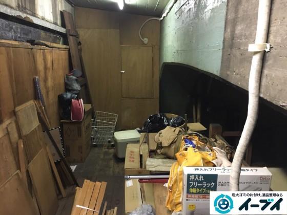 10月12日 大阪府大阪市住吉区で店舗の屋根裏の棚や粗大ゴミの不用品回収をしました。写真6