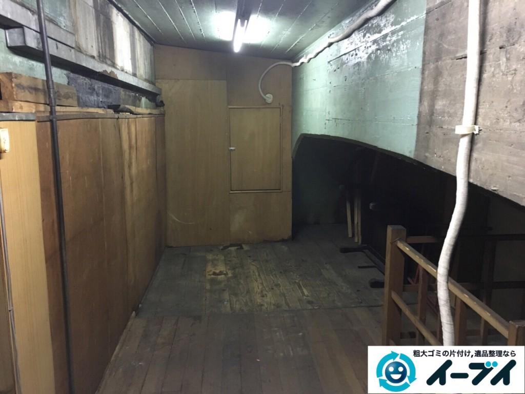 10月12日 大阪府大阪市住吉区で店舗の屋根裏の棚や粗大ゴミの不用品回収をしました。写真3