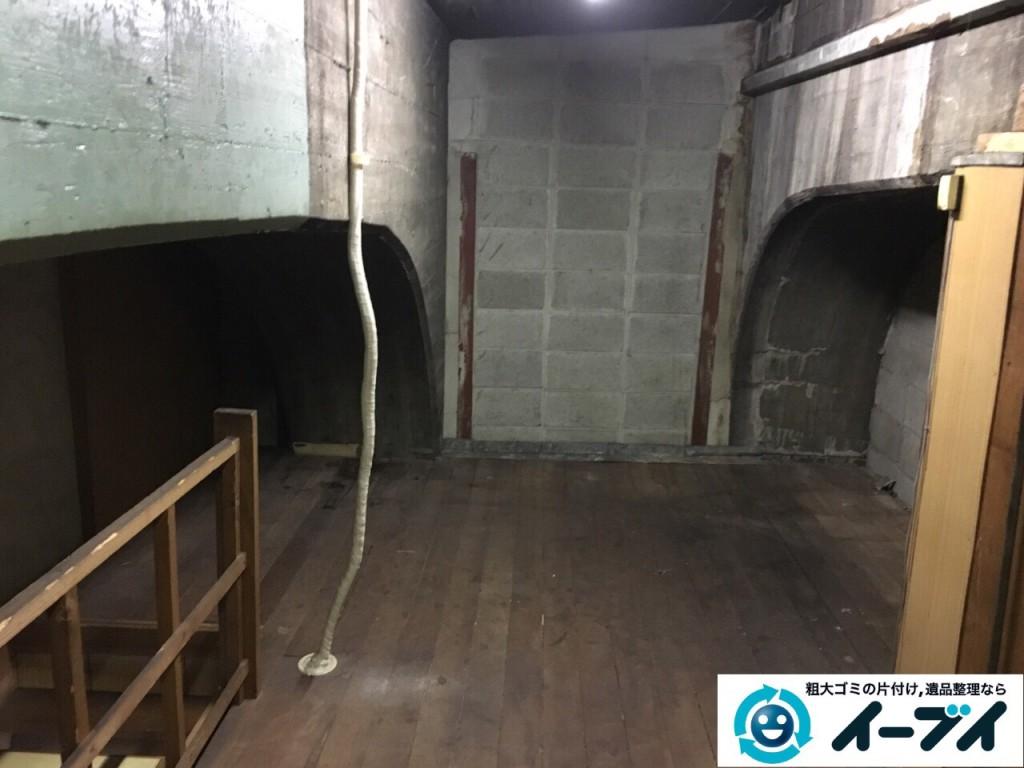 10月12日 大阪府大阪市住吉区で店舗の屋根裏の棚や粗大ゴミの不用品回収をしました。写真2