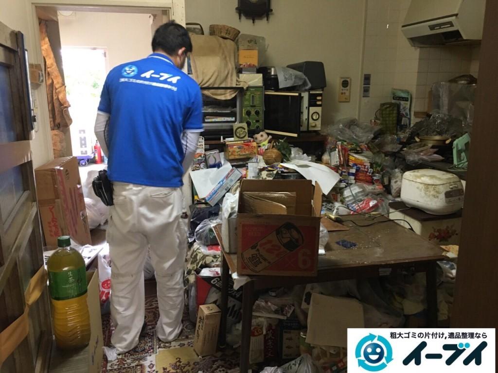 10月23日 大阪府高石市で部屋の片付けに伴う粗大ゴミや家具の不用品回収をしました。写真7