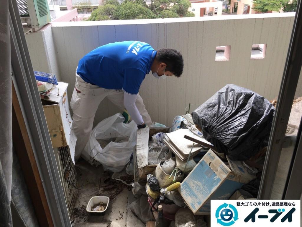 10月19日 大阪府大阪市鶴見区でベランダの植木や廃品の粗大ゴミの不用品回収をしました。写真5