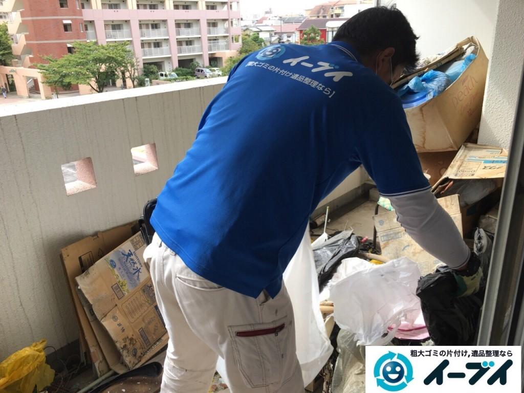 10月19日 大阪府大阪市鶴見区でベランダの植木や廃品の粗大ゴミの不用品回収をしました。写真4