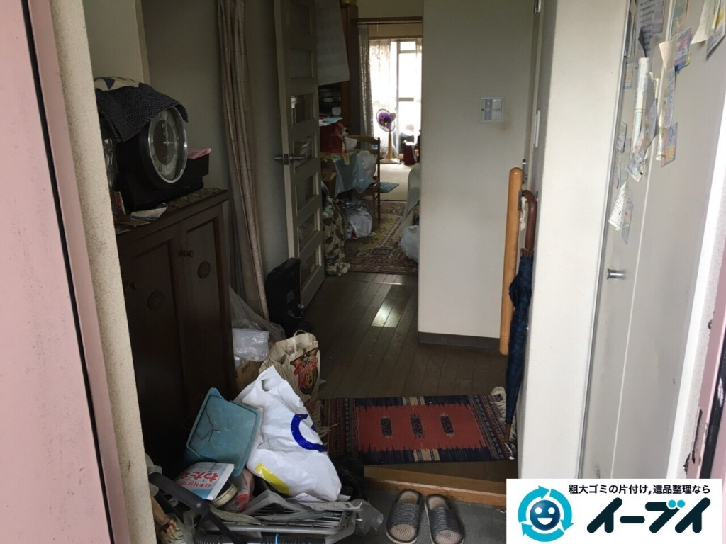 10月23日 大阪府高石市で下駄箱や洗濯機などの細々した廃品や粗大ゴミの回収処分をしました。写真6