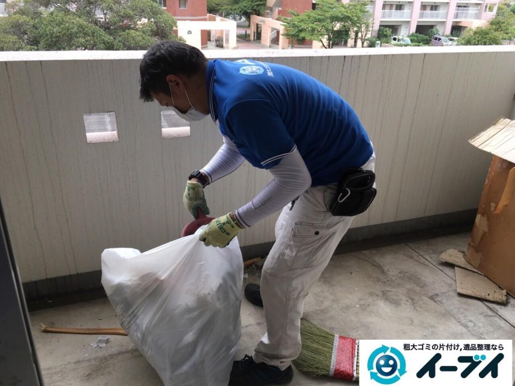 10月19日 大阪府大阪市鶴見区でベランダの植木や廃品の粗大ゴミの不用品回収をしました。写真3