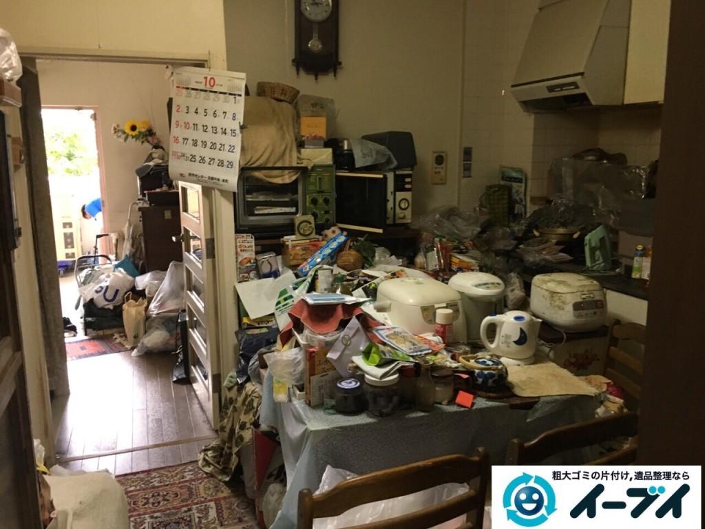 10月23日 大阪府高石市で部屋の片付けに伴う粗大ゴミや家具の不用品回収をしました。写真5