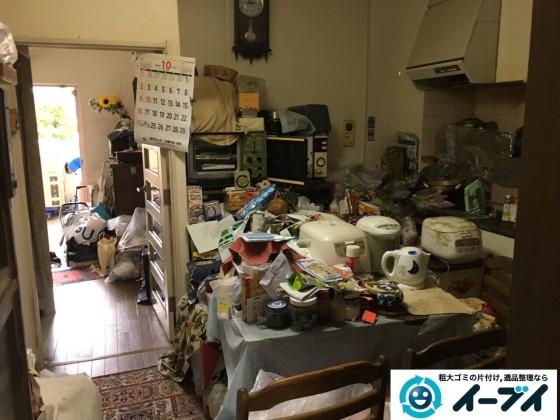 10月25日 大阪府高石市で部屋の片付けに伴う粗大ゴミや家具の不用品回収をしました。写真5