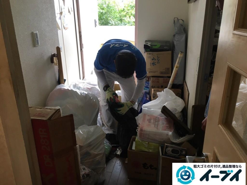 10月23日 大阪府高石市で下駄箱や洗濯機などの細々した廃品や粗大ゴミの回収処分をしました。写真5