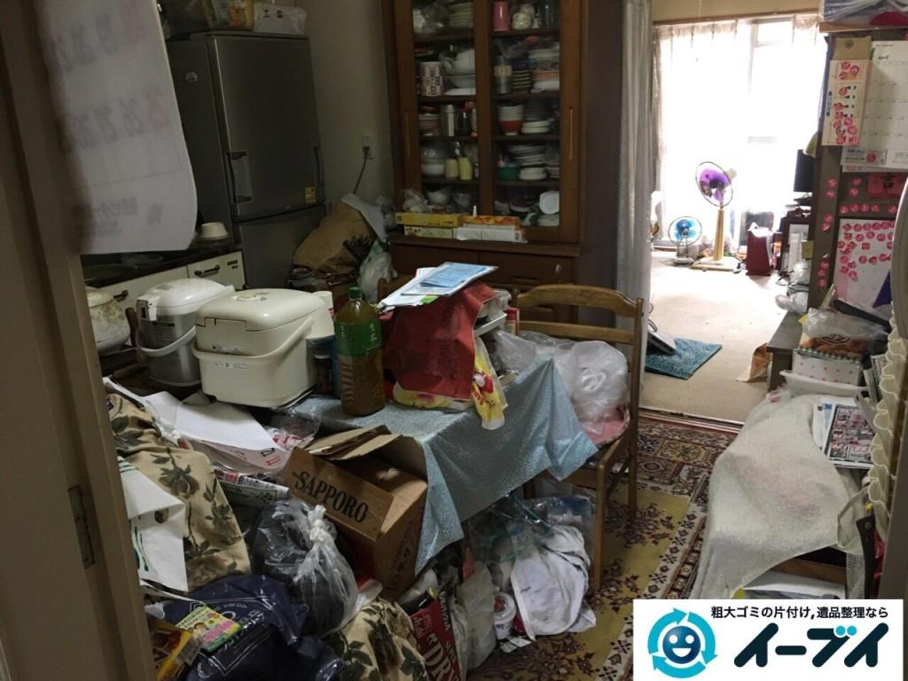 10月23日 大阪府高石市で部屋の片付けに伴う粗大ゴミや家具の不用品回収をしました。写真4