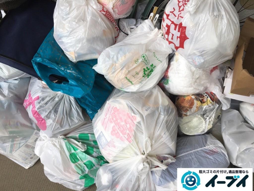 10月19日 大阪府大阪市天王寺区で廊下の自転車や生ゴミの粗大ゴミの不用品回収をしました。写真4