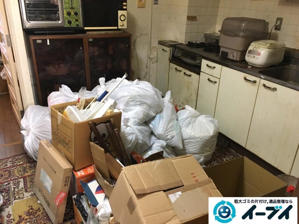 10月23日 大阪府高石市で部屋の片付けに伴う粗大ゴミや家具の不用品回収をしました。写真3