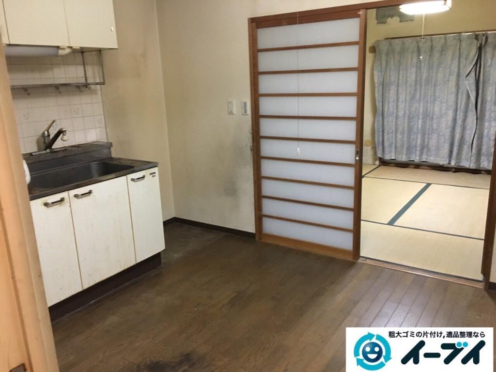 10月23日 大阪府高石市で部屋の片付けに伴う粗大ゴミや家具の不用品回収をしました。写真6