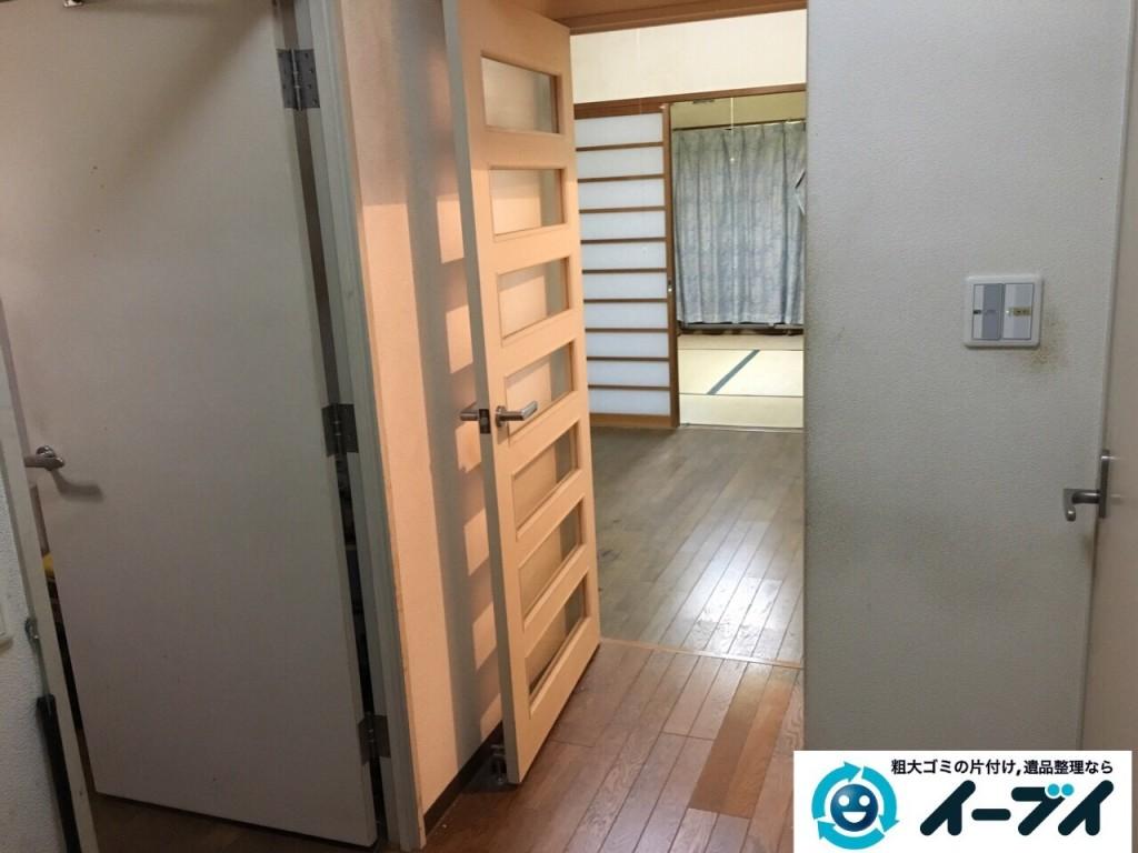 10月23日 大阪府高石市で下駄箱や洗濯機などの細々した廃品や粗大ゴミの回収処分をしました。写真4