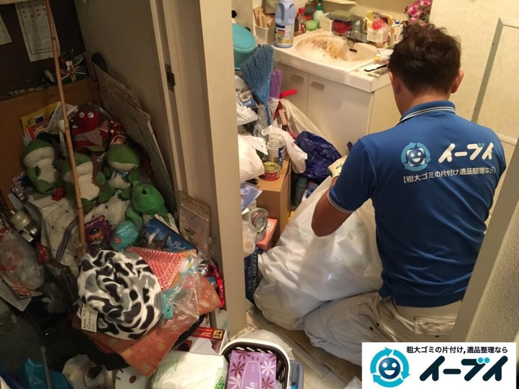 10月20日 大阪府堺市中区で汚部屋状態のゴミ屋敷の片付けをしました。写真2