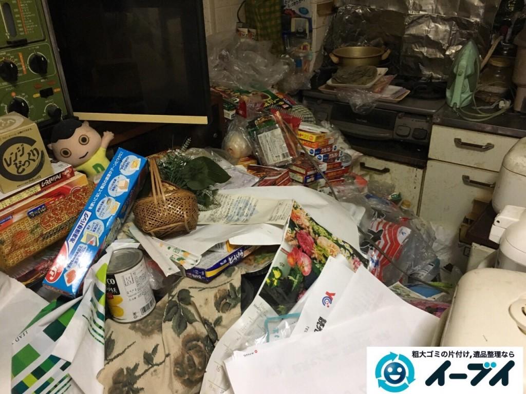 10月23日 大阪府高石市で部屋の片付けに伴う粗大ゴミや家具の不用品回収をしました。写真2