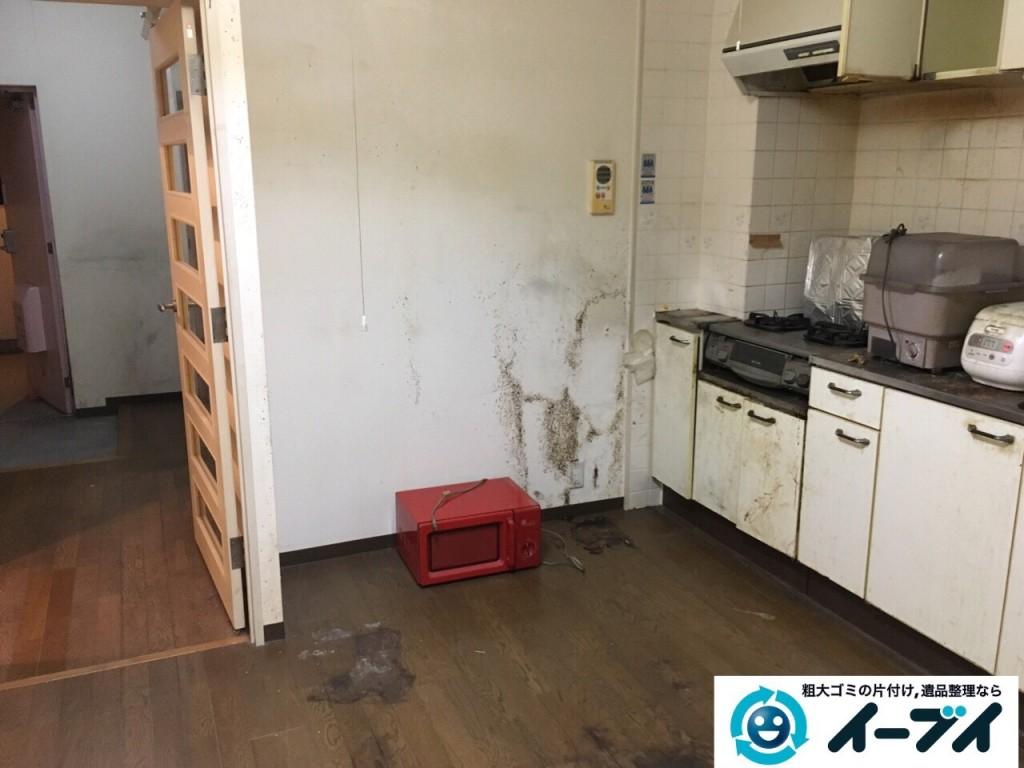 10月23日 大阪府高石市で部屋の片付けに伴う粗大ゴミや家具の不用品回収をしました。写真1