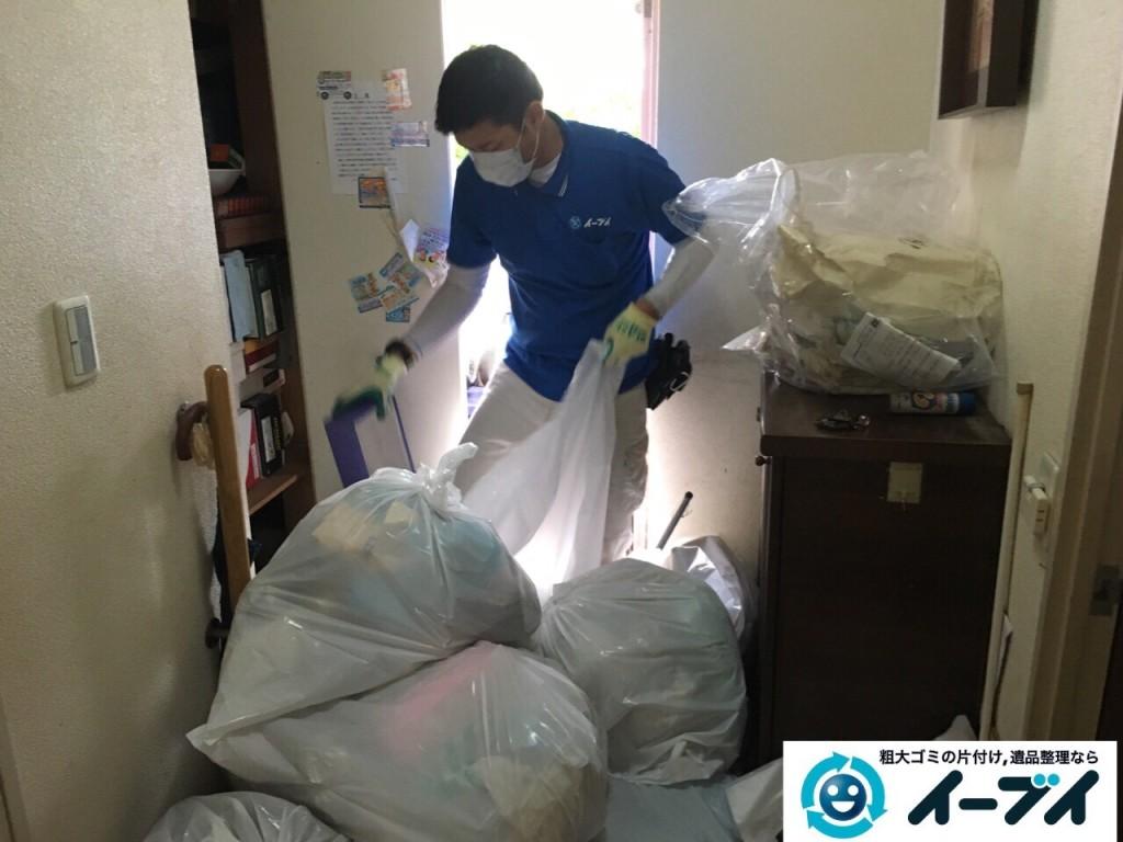 10月23日 大阪府高石市で下駄箱や洗濯機などの細々した廃品や粗大ゴミの回収処分をしました。写真2