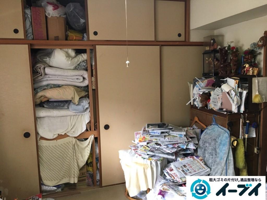 10月22日 大阪府貝塚市でゴミ屋敷の家具や粗大ゴミの片付けをしました。写真1