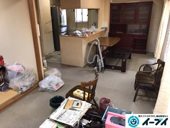 11月2日 大阪府泉大津市でダイニングテーブルや食器棚の大型家具の不用品回収をしました。写真5