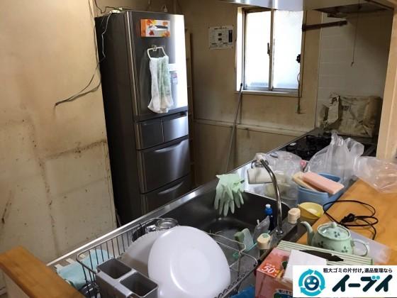 11月4日 大阪府泉大津市で引越しに伴う不用品回収で冷蔵庫や台所の粗大ゴミの処分をしました。写真3