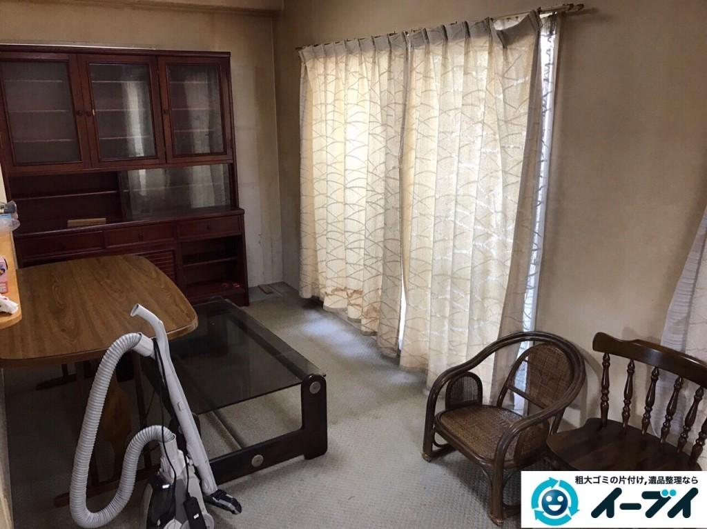 11月2日 大阪府泉大津市でダイニングテーブルや食器棚の大型家具の不用品回収をしました。写真2