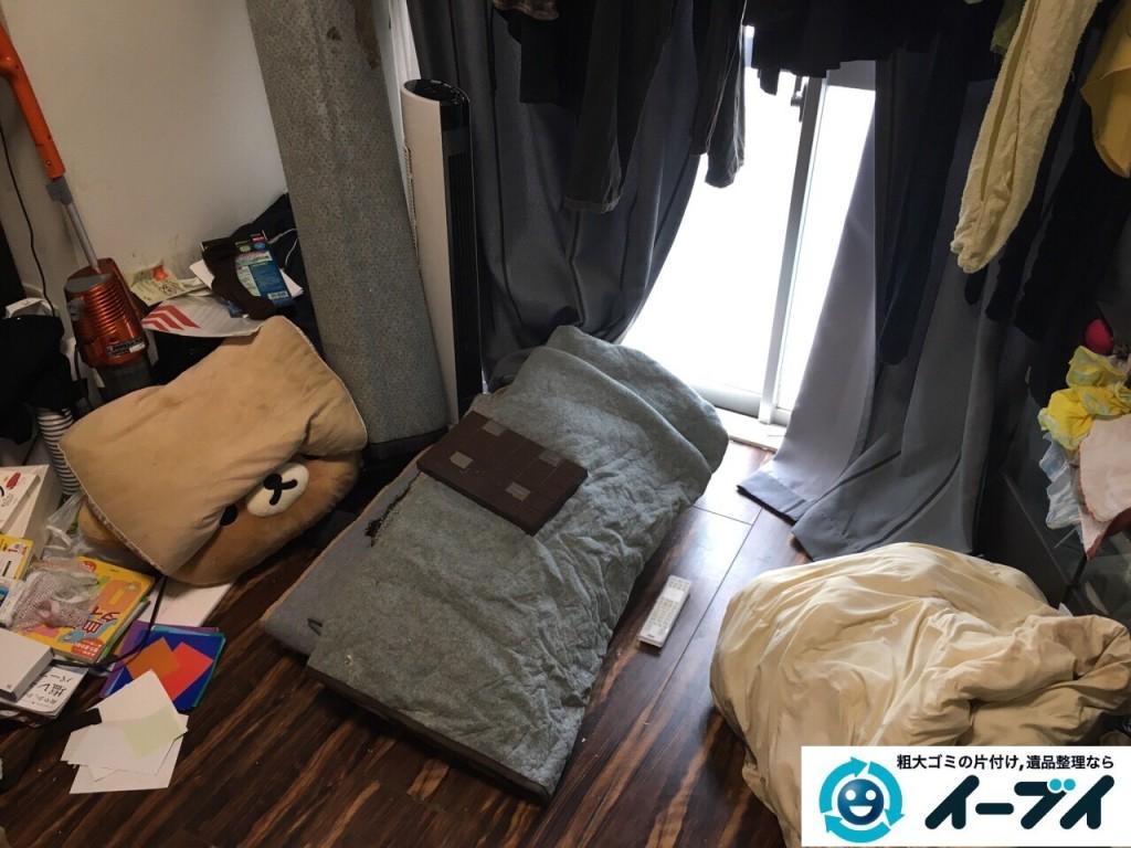 11月18日 大阪府大阪市西成区でベットや布団など粗大ゴミの不用品回収をしました。写真3