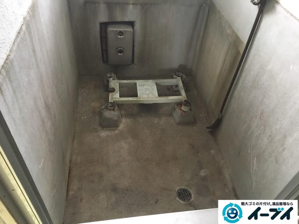 11月10日 大阪府藤井寺市で遺品整理のため風呂釜や下駄箱などの生活用品の処分をしました。写真1
