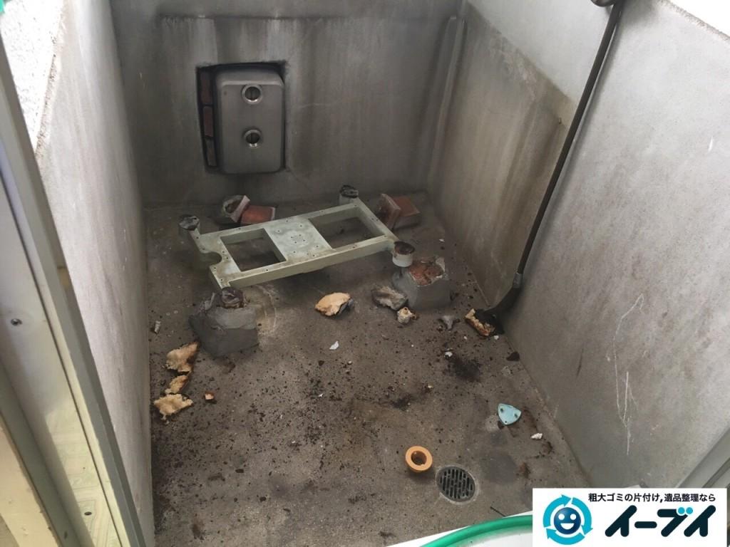 11月10日 大阪府藤井寺市で遺品整理のため風呂釜や下駄箱などの生活用品の処分をしました。写真6