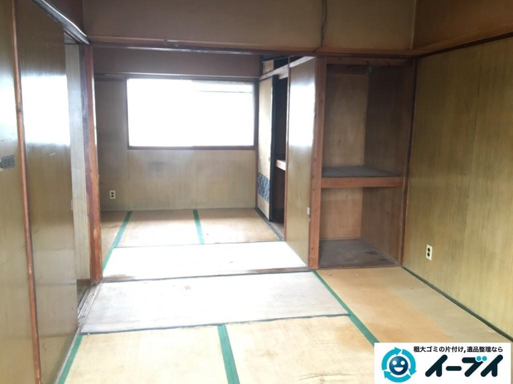 11月6日 大阪府藤井寺市で遺品整理に伴う部屋の残置物の処分をしてきました。写真1