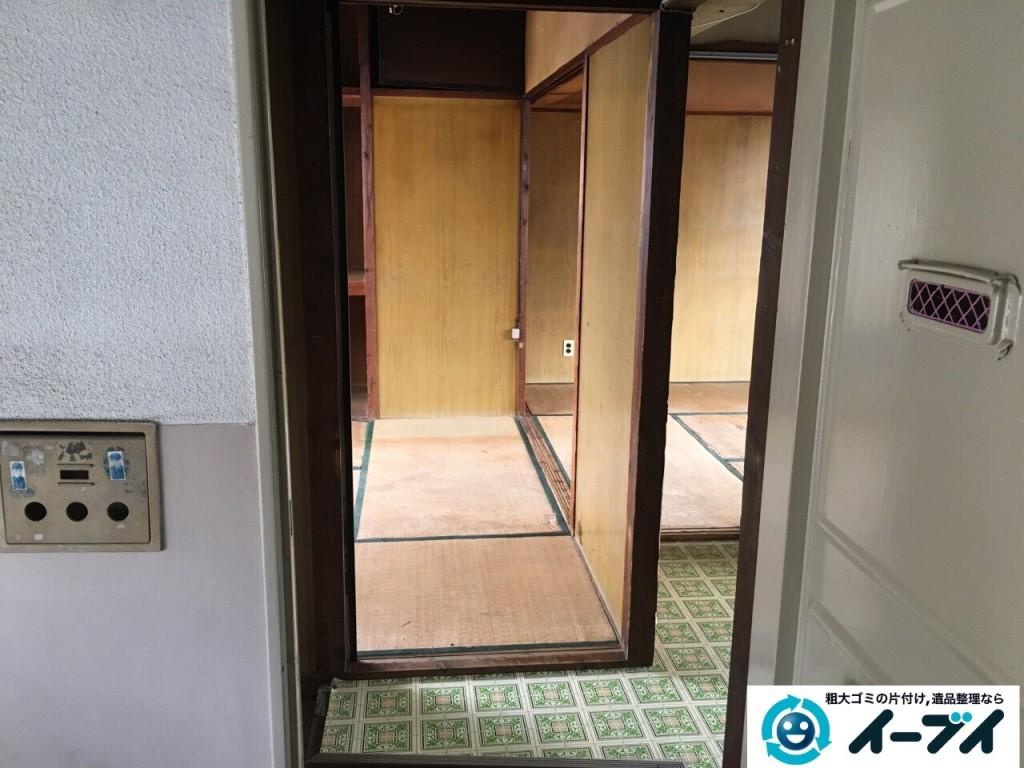 11月10日 大阪府藤井寺市で遺品整理のため風呂釜や下駄箱などの生活用品の処分をしました。写真3