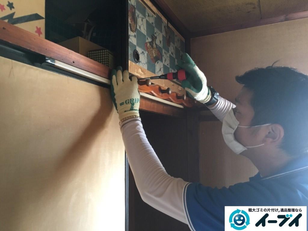 11月6日 大阪府藤井寺市で遺品整理に伴う部屋の残置物の処分をしてきました。写真4