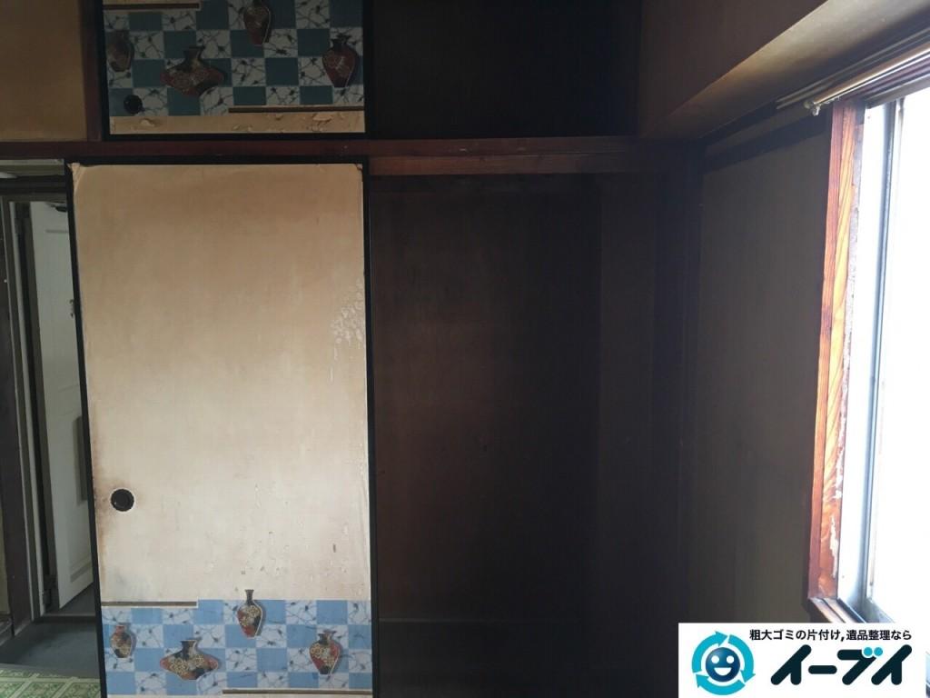 11月12日 大阪府藤井寺市で押し入れの布団や粗大ゴミの処分をしました。(遺品整理編) 写真3