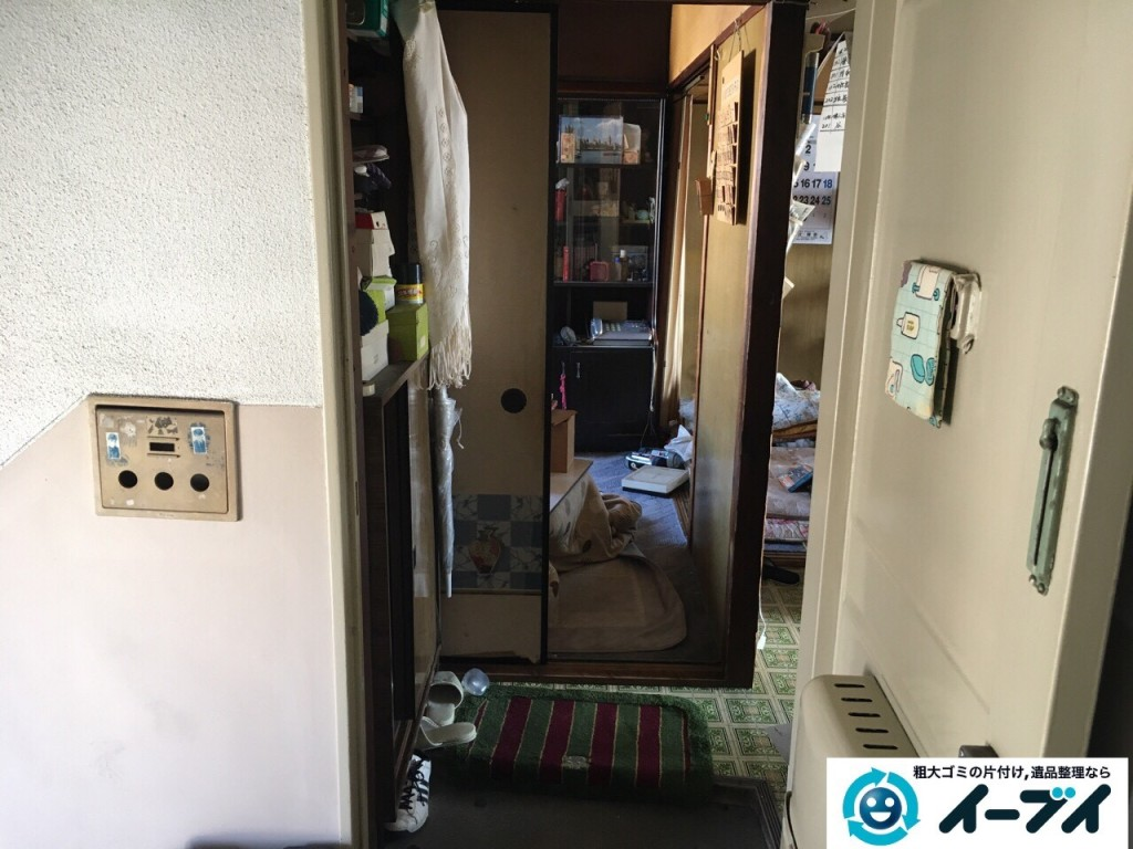 11月10日 大阪府藤井寺市で遺品整理のため風呂釜や下駄箱などの生活用品の処分をしました。写真2
