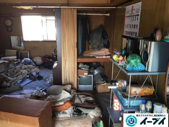 11月6日 大阪府藤井寺市で遺品整理に伴う部屋の残置物の処分をしてきました。写真2
