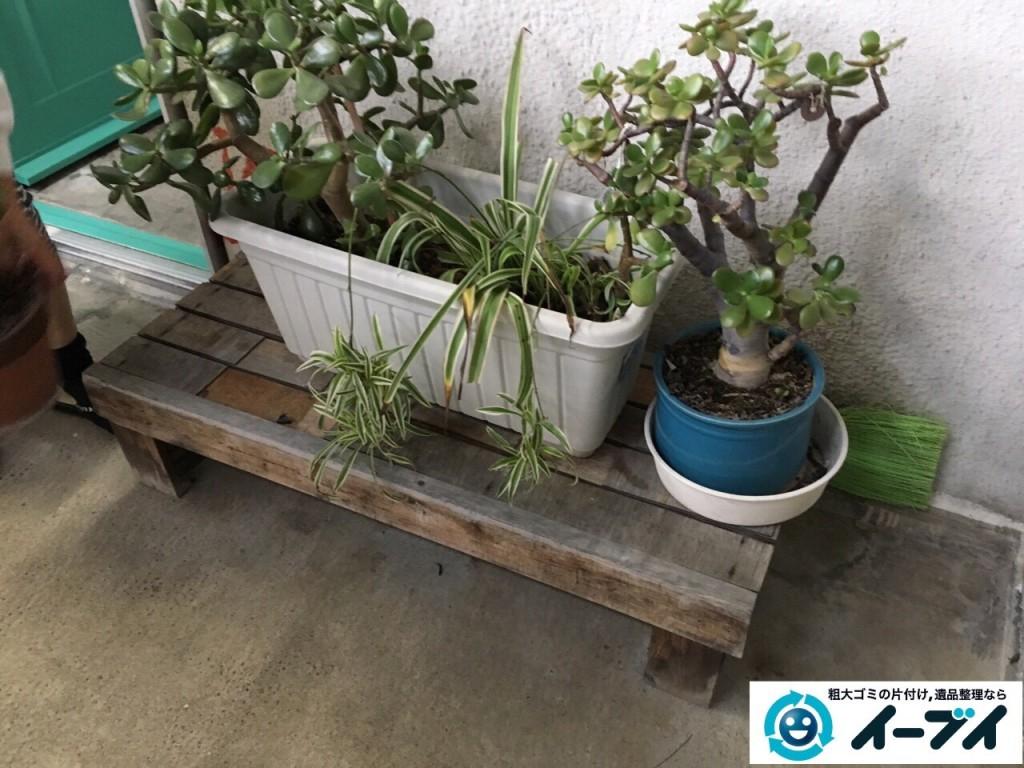 11月23日 大阪府大阪市旭区でテレビと植木などの粗大ゴミの不用品回収をしました。写真4