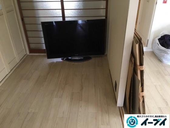 11月23日 大阪府大阪市旭区でテレビと植木などの粗大ゴミの不用品回収をしました。写真1