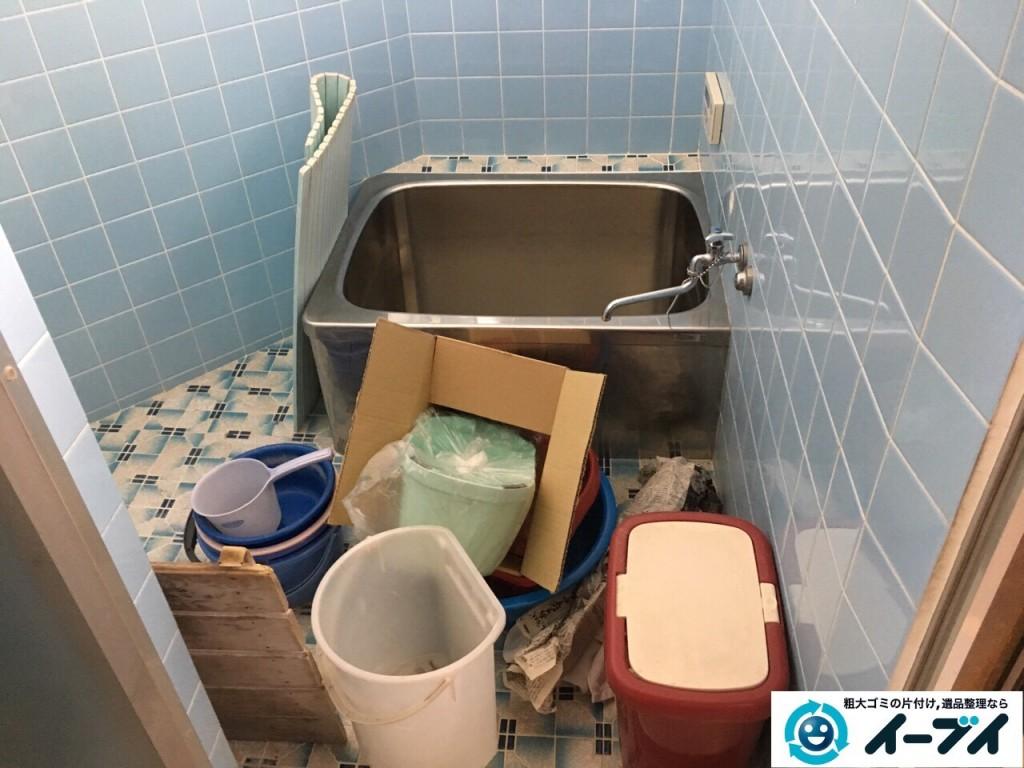 11月26日 大阪府大阪市西淀川区で洗濯機や風呂場の洗剤など粗大ゴミの不用品回収をしました。写真4