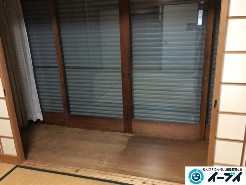 11月22日 大阪府大阪市阿倍野区で遺品整理に伴う家具や布団など粗大ゴミの片付けをしました。写真2